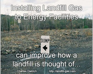 landfill gas energy process facility meme