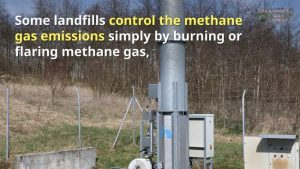 Landfill gas flares are part of the LFG extraction and utilisation system.